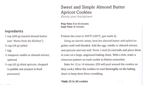 Sweet and Simple Almond Butter Apricot Cookies/The Healthiest Meals on Earth by Jonny Bowden Ph.D.